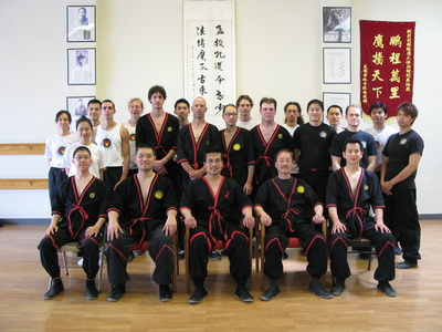 Photos of Wing Chun students and instructors participating in Chinese martial arts seminars of the International Wing Tsun Association