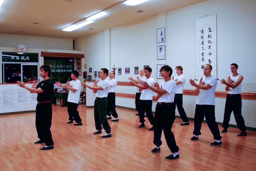 Wing Tsun Kung Fu Class in Millbrae, CA Nov 2009 at Sifu Elmond Leung's Martial Arts School