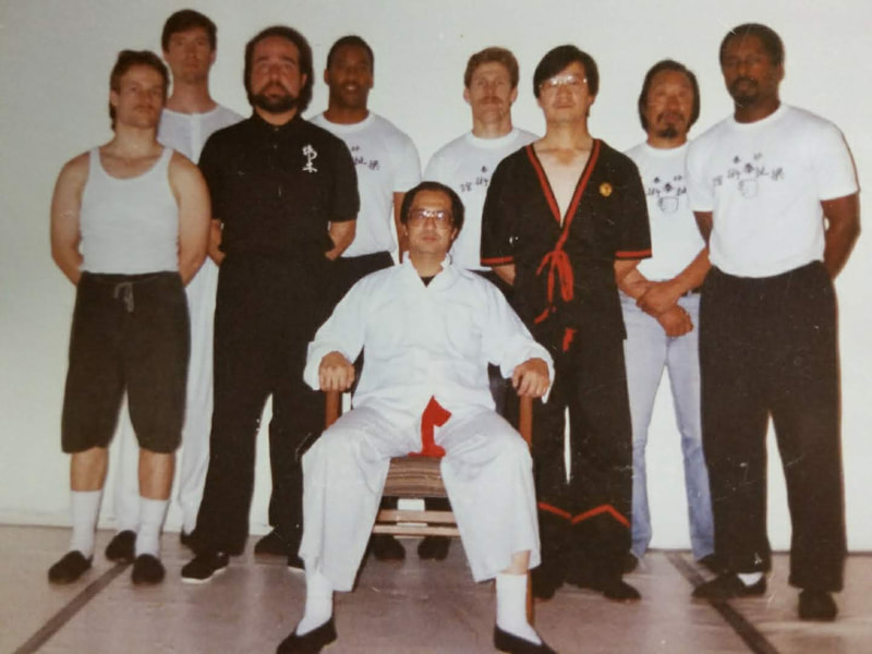 Wing Tsun Grandmaster Leung Ting and Sifu Elmond Leung & students in his early career in the U.S.