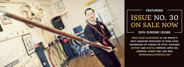 Sifu Elmond Leung Senior Wing Tsun Instructor in the Wing Chun Illustrated Magazine #1