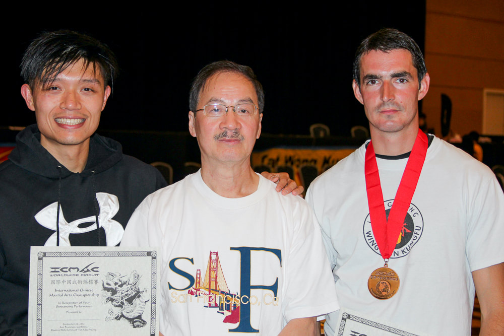 Wing Chun Students and Sifu Elmond Leung after a Bay Area Tournament in Sept 2012